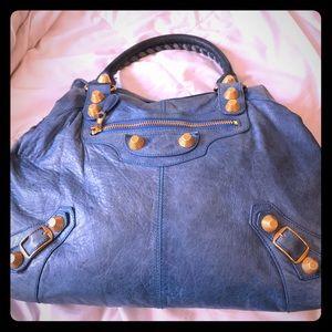 Beautiful Balenciaga Blue Oversized satchel💙💙💙